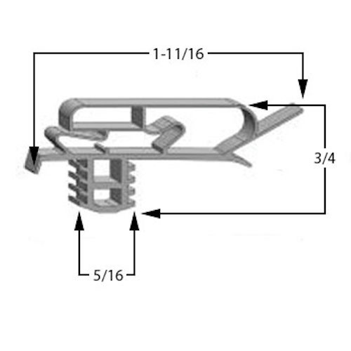 Cooler and Freezer Gasket Profile 618 Full case (Style 2618)