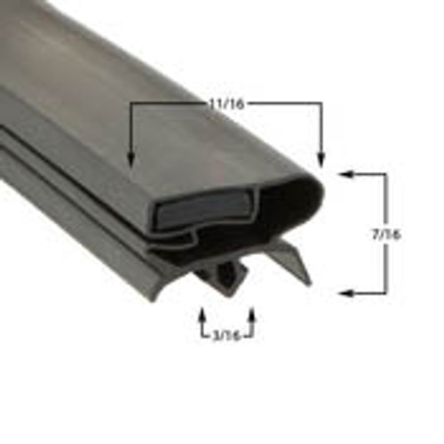 Turbo Air Door Gasket Profile 377 8 1/4 x 43-2