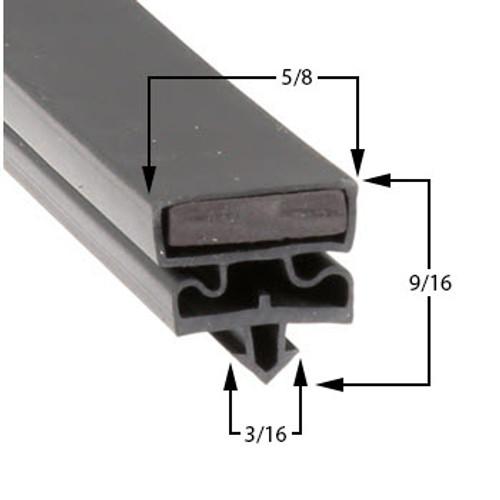 """Traulsen Door Gasket Profile 548 22-5/8"""" X 59-2"""