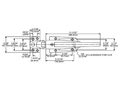 Kason-0056-Safeguard-latch-strike-drawing-0056CL5020-0056L05020-0056005002-0056005003-0056005005-0056005008
