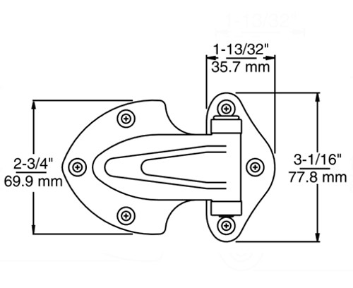 Kason-139-Narrow-flange-hinge-diagram-10139000004-10139000032-10139000040