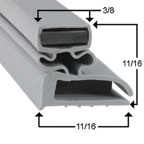 Delfield Door Gasket Profile 702 7 5/8 x 24 9/16 -A2.0844, 1702558-2