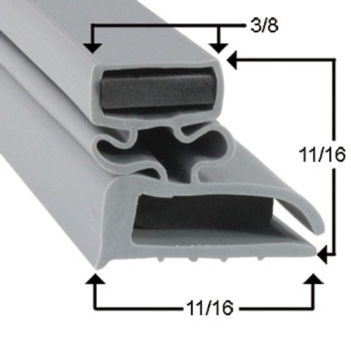 Delfield Door Gasket Profile 702 9 1/2 x 21 1/4 -A2.0844, 1702559-2