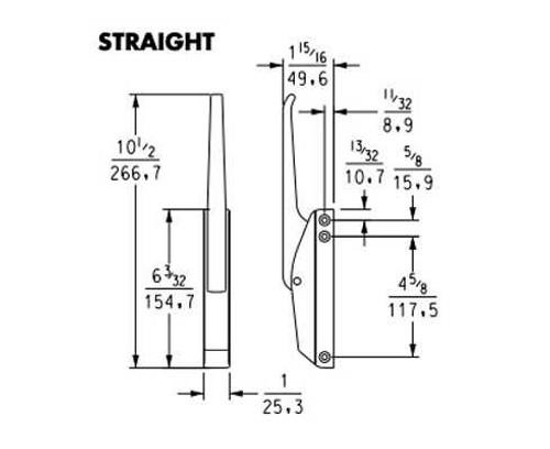 Kason 173 Series  Universal Edgemount Mechanical Latch Reach-in Latches and Handles 0
