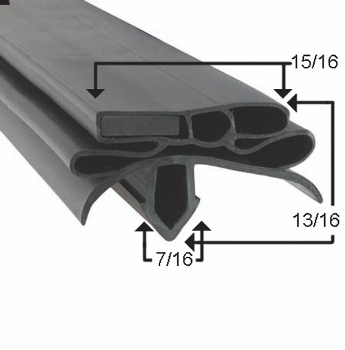 Compatible with True Mfg 211676 Gasket Profile 582 26 1/4 x 26 1/4-2