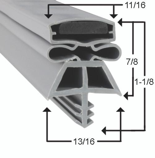 International Cold Storage Door Gasket Profile 180 37 3/4 x 78 1/2 - 3 sided -2