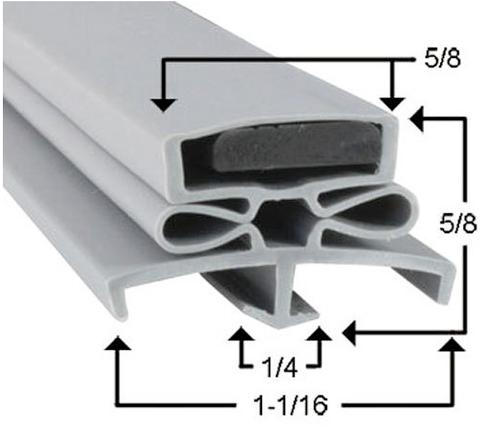 Traulsen Cooler and Freezer Door Gasket SVC-60197-02-2