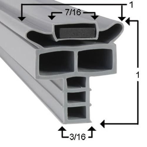 Randell Cooler and Freezer Door Gasket Profile 714 24 1/2 x 41 3/8