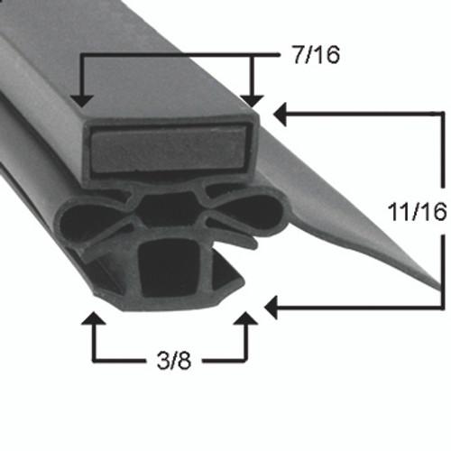 Turbo Air Door Gasket Profile 254 6 7/8 x 28 3/4-2