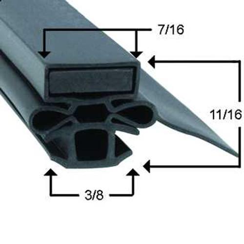 Turbo Air Door Gasket Profile 254 25 1/2 x 26 1/2 Turbo Air 34.66
