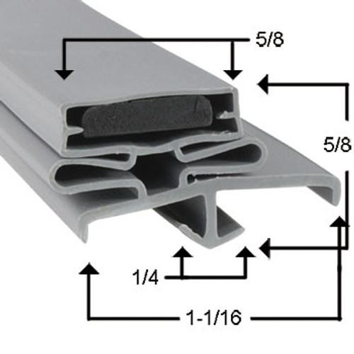 Beverage Air Door Gasket - Profile 165 12 1/4 x 23
