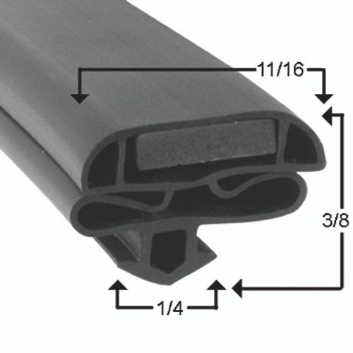 Masterbilt Door Gasket Profile 632 25 x 63 1/8-2