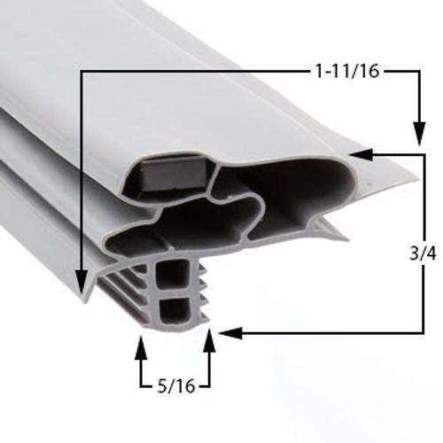 Delfield Door Gasket Profile 618 11 9/16 x 29 1/2-1702812-2