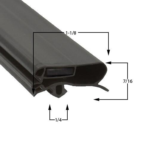 Zero Zone Door Gasket Profile 227 29 5/16 x 67 5/16
