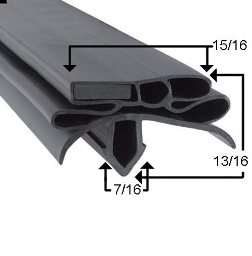 Compatible with True Mfg 203294 Gasket Profile 258 25 1/4 x 54 1/4 -2