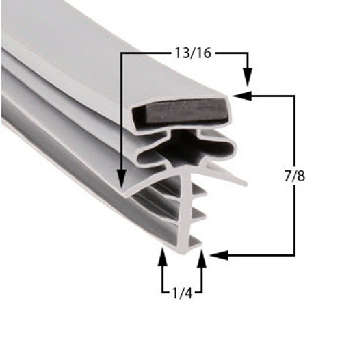 Brown Door Gasket Profile 301 37 3/8 x 77 1/2 -A2.0425-2
