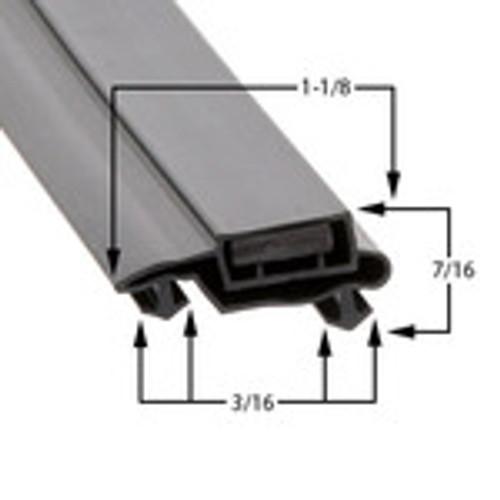 Custom Size Cooler and Freezer Gasket Profile 612 (Style 2261)