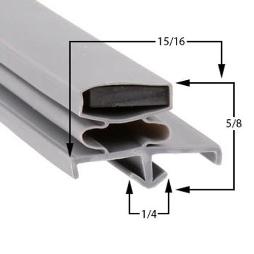 Profile 169 - Custom Refrigeration Gasket Custom Gaskets 0