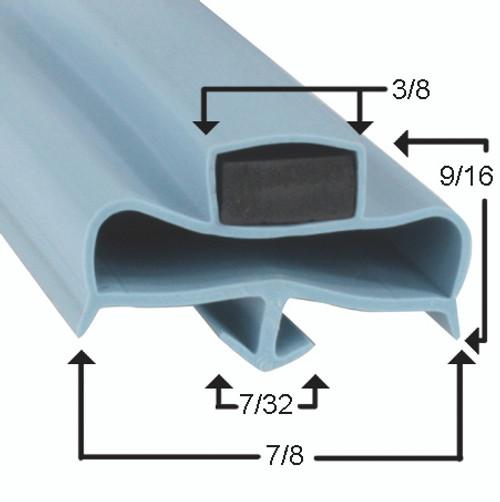Delfield Door Gasket Profile 967 9 x 29 1/2 -A2.0329-2