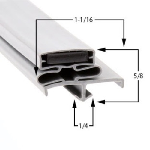 Delfield Door Gasket Profile 168 29 3/4 x 72 -A2.0924-2