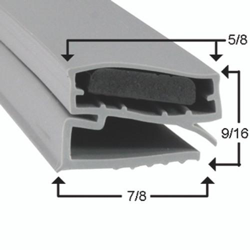 Delfield Door Gasket Profile 424 15 7/8 x 34 -A2.0859-2