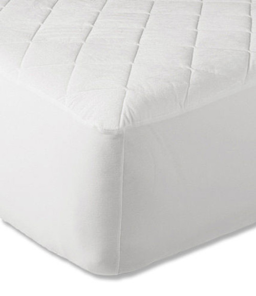 "16"" Extra Deep Quilted Mattress Protector - White"