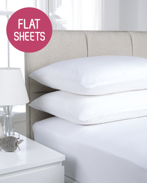 180TC Easy Iron Percale Flat Sheets