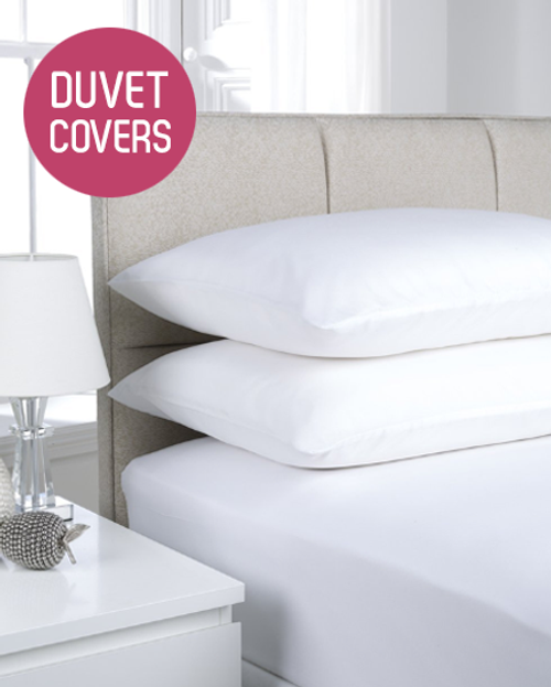 180TC Easy Iron Percale Duvet Covers