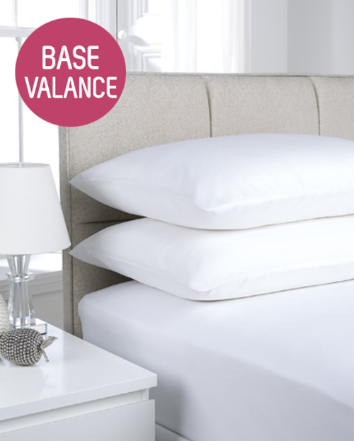 180TC Easy Iron Percale Base Valance