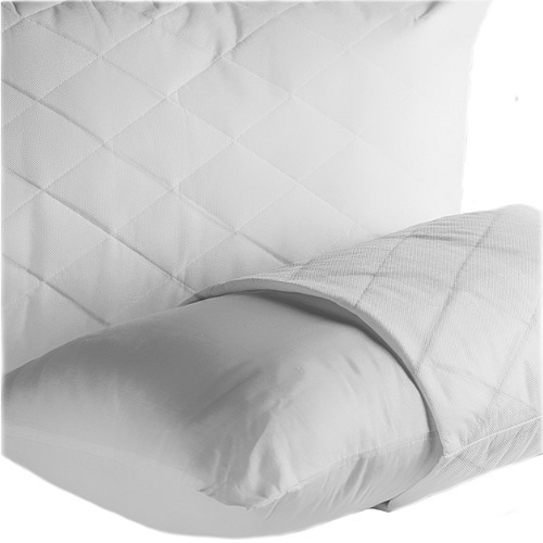 Quilted Pillow Protector Polycotton Easy Care