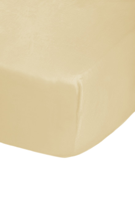 4ft Bed Cream Easy Care Fitted Sheet - 68 Pick Polycotton