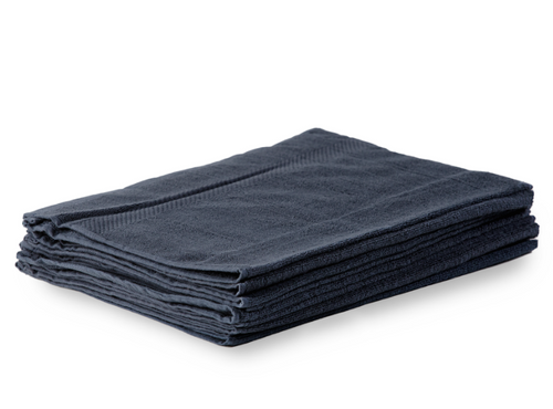 500 GSM Cotton Hand Towels with Eyelet - Dark Navy