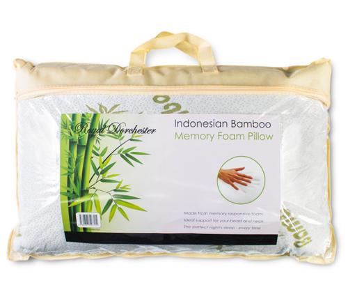 Indonesian Bamboo Memory Foam Pillow