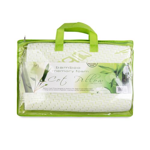 Bamboo Memory Foam Cot Pillow - 25x40 cm