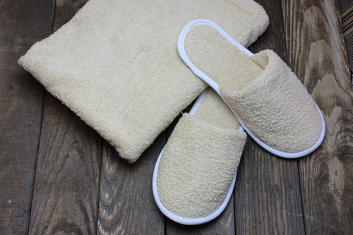 100% Cotton Terry Towelling Slippers
