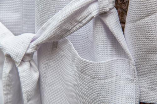 100% Cotton Lightweight Waffle Dressing Gown