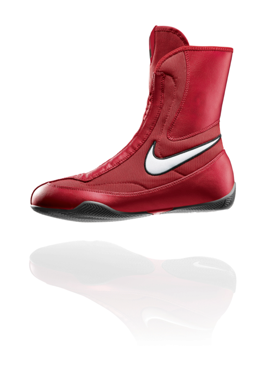 84380248786 NIKE Machomai MID TOP Boxing Shoes - Red Color - PRO FIGHT SHOP®