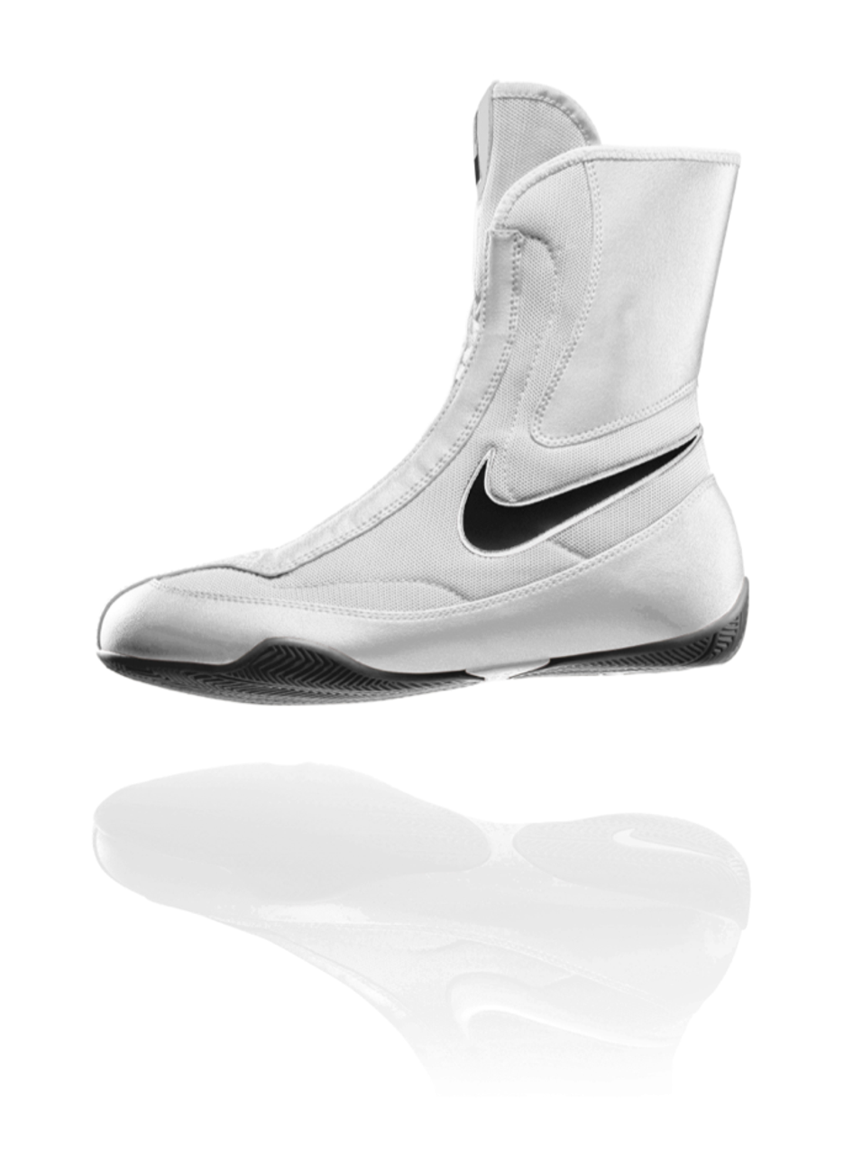 los angeles 3982b c7860 NIKE Machomai MID TOP Boxing Shoes - White Color - PRO FIGHT SHOP®