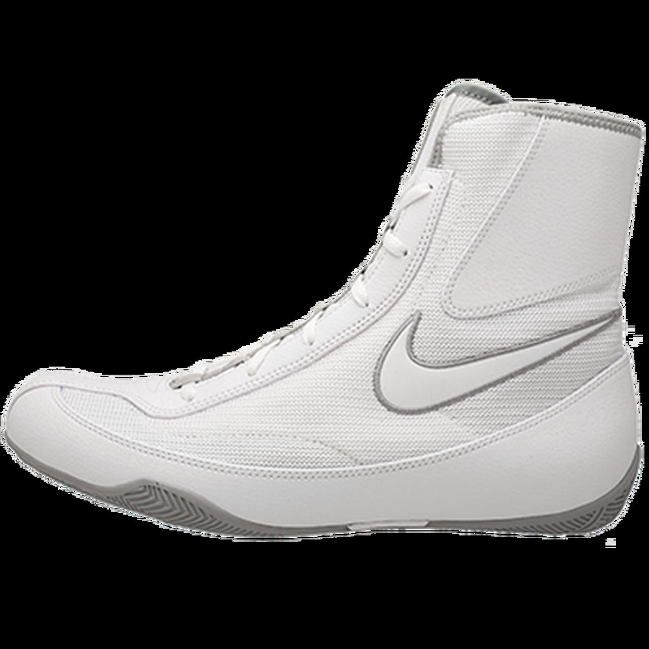 monstruo póngase en fila Cierto  Nike Machomai 2.0 White Boxing Shoes - PRO FIGHT SHOP