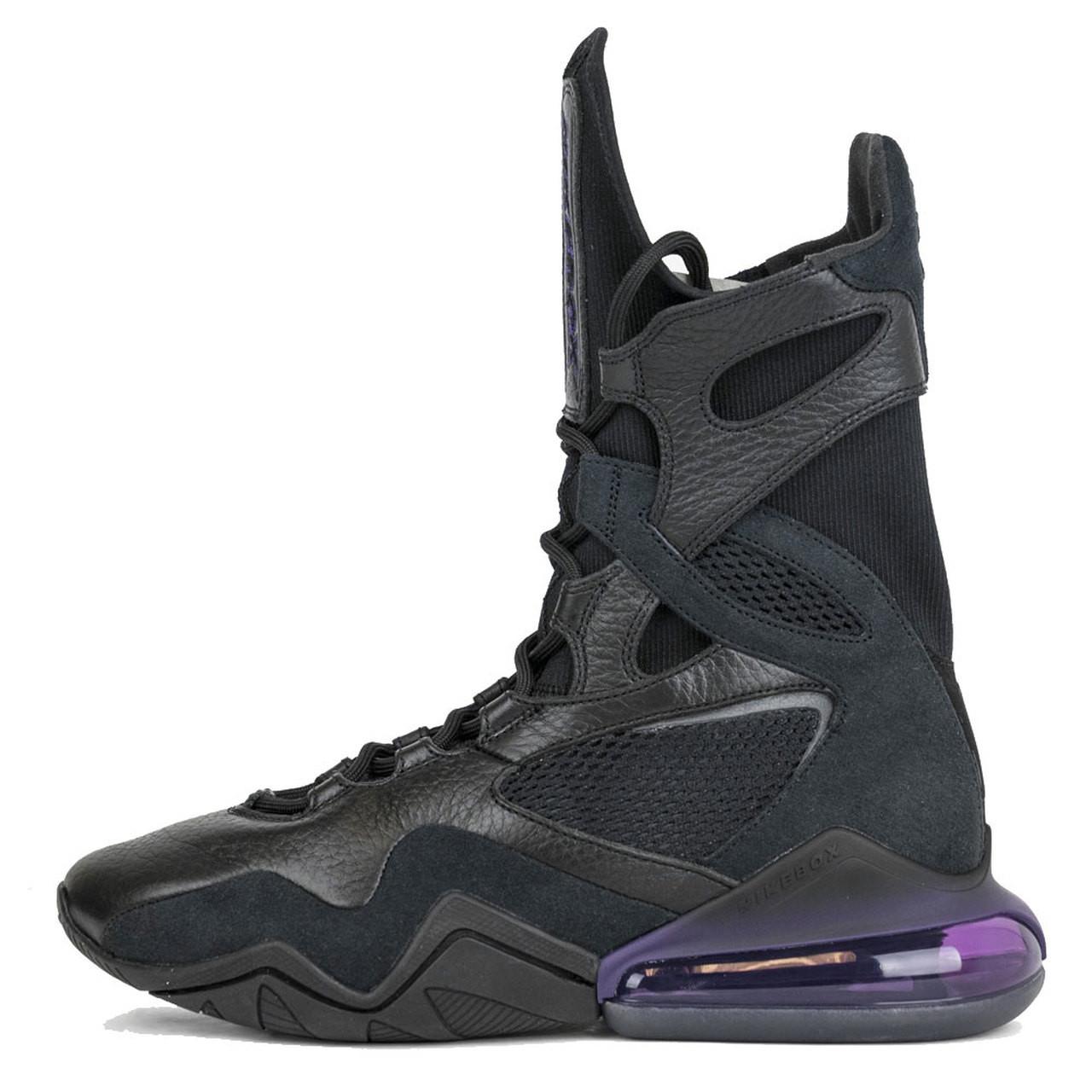 Nike Women's AIR MAX BOX Boxing Shoes BlackBlackGrand Purple