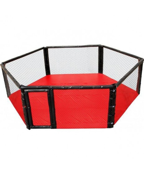 PRO MMA FLOOR HEXAGON MIXED MARTIAL ARTS CAGE WITH PAD/COVER