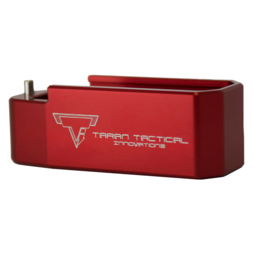 PMAG Base Pad for AR15, +5, Red Finish