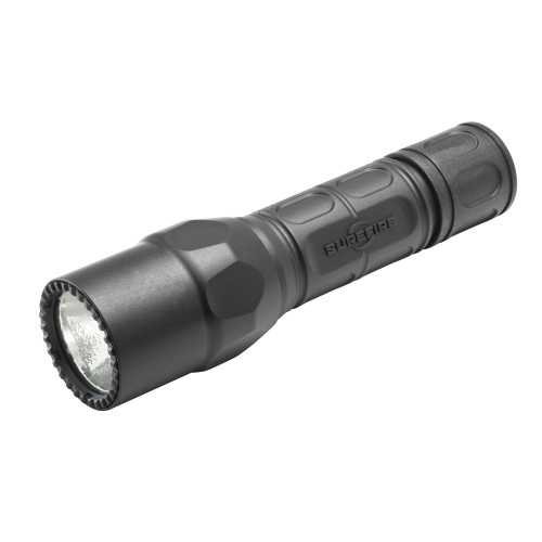 G2X Tactical Flashlight, Single-Output LED, 600 Lumens, Tactical Tailcap Click Switch, 2x CR123 Batteries, Black