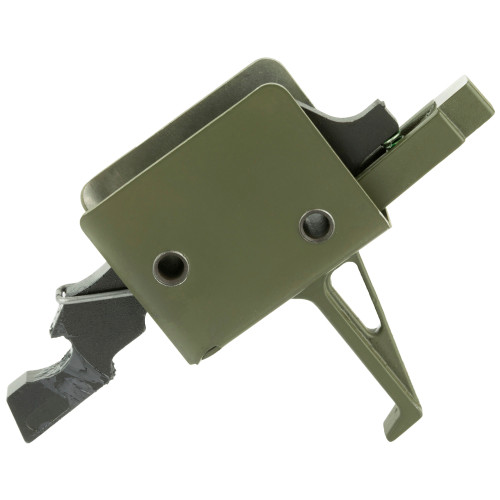 Single Stage Match Trigger, Flat,Fits Small Pin AR, OD Green