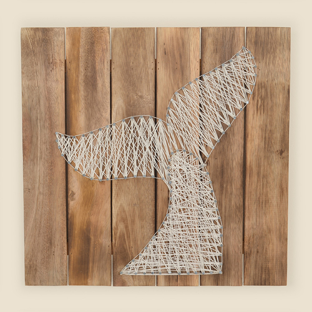 17 068 Whale Tail String Art On Wood Wall Hanging Watermark Living