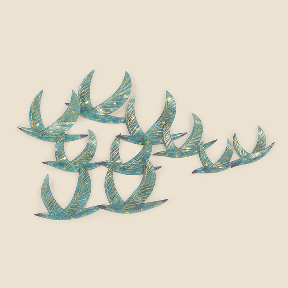 17-021 Flock of Birds Metal Wall Hanging