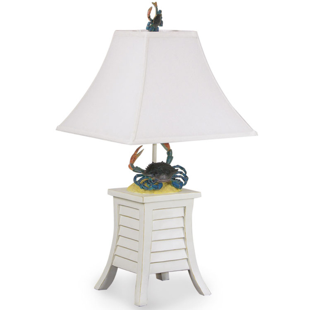 191TL,AW Blue Crab Table Lamp