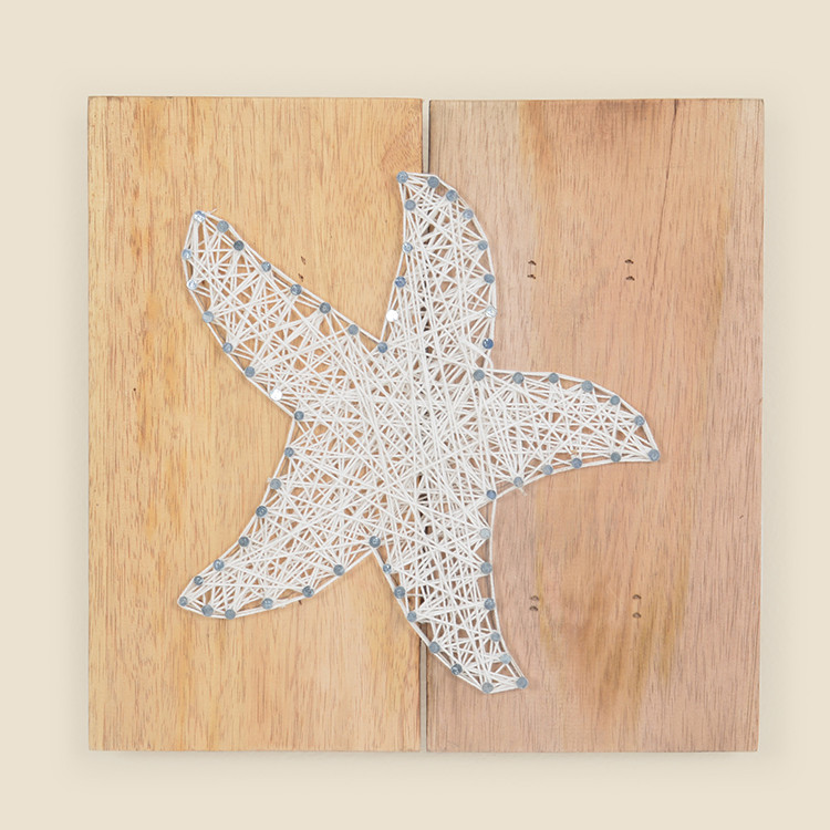 17-076,SM  Small Starfish String Art on Wood