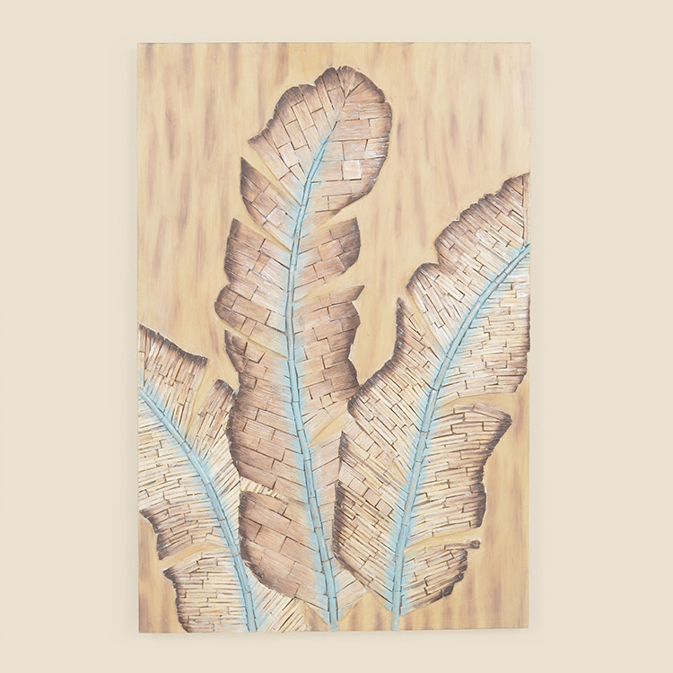 17-058  Triple Banana Leaf Wall Hanging