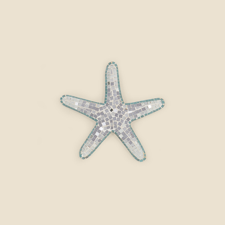 17-066,SM Small Mosaic Starfish Wall Hanging